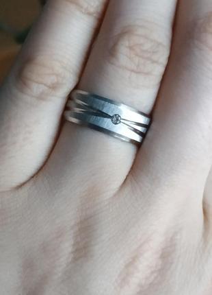 Кольцо серебро нержавеющая сталь колечко