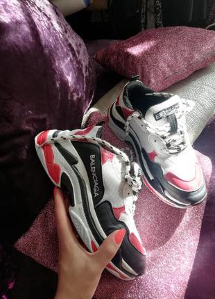 Кроссовки женские кроссовки balensiaga кроссовки на толстой подошве