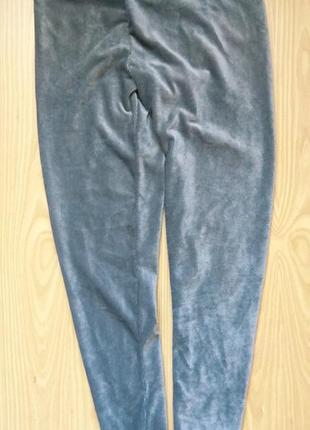 Серебристые лосинки лёгкие штаны