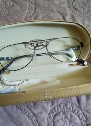 Новая, титановая оправа tod's унисекс очки made in italy2 фото