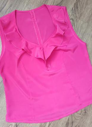 Малиновая блуза блузка кофточка шелковая, иск. шелк