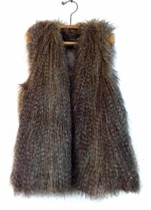 Невероятная жилетка меховая жилетка