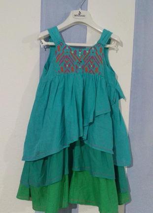 Натуральна сукня сарафан catimini