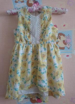 Шифоновое платье на 4 года