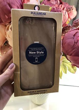 Новый прозрачный чехол на iphone 6 plus