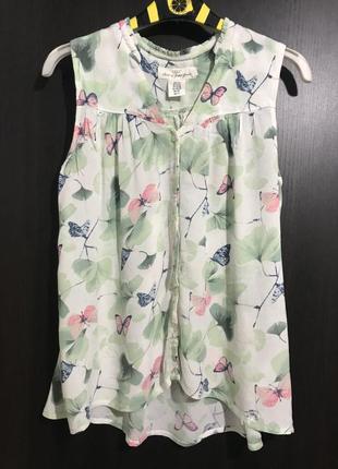 """Майка-блузка """"листья и бабочки"""""""