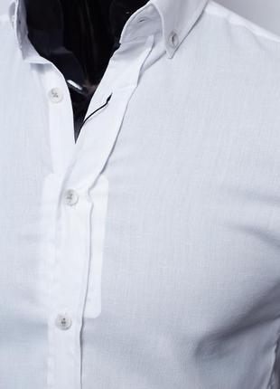 Рубашка мужская летняя figo 18023 с коротким рукавом2 фото