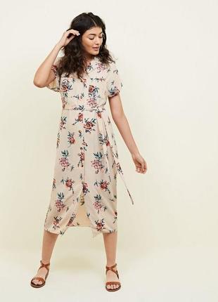 Платье-рубашка миди new look (uk 18,р.52)