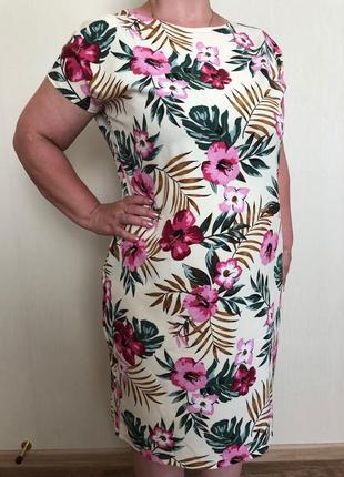 Женское платье лето 52-62 рр полномер.красивое платье большие размеры
