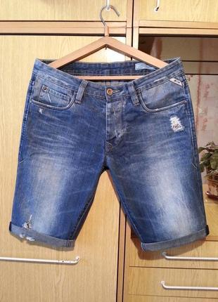 Джинсовые шорты,бриджи jack&jones.оригинал.