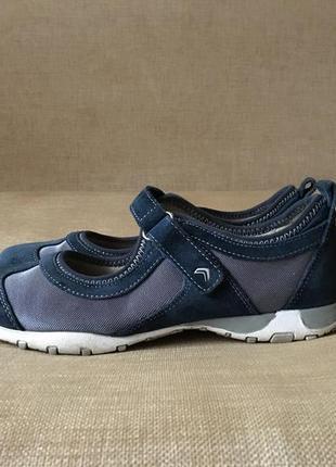 Шкіряні туфлі, балетки, мокасины geox, оригінал, 38-39 розмір3 фото