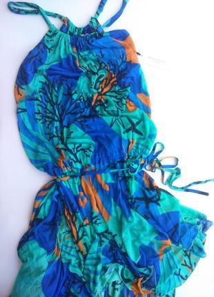 Летнее пляжное платье версаче versace италия, оригинал!3 фото