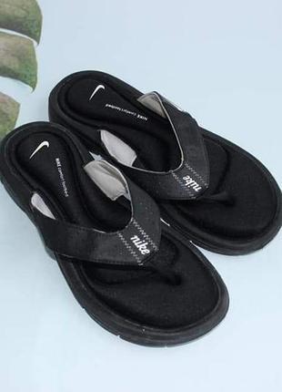 Nike фирменные вьетнамки memory стелька шлепки шлепанцы
