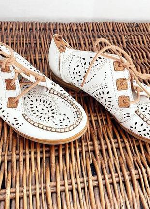 Мокасины туфли натуральная кожа италия