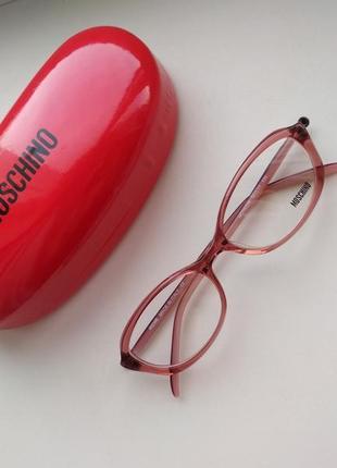 Розовая фирменная оправа летняя яркая кошачий глаз, очки женские оригинал