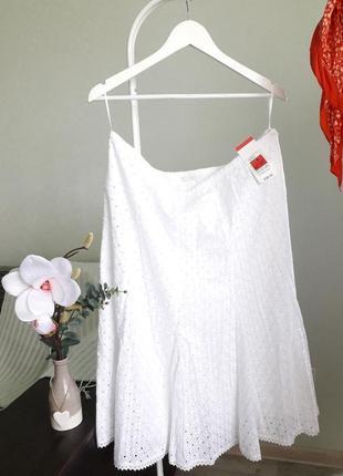 Шикарная юбка миди с прошвой от дорогого бренда marks&spencer