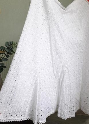 Шикарная юбка миди с прошвой от дорогого бренда marks&spencer6 фото