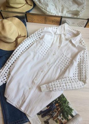 Эксклюзивная рубашка с сетчатыми рукавами