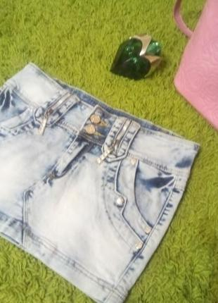 Джинсовая юбка, варенка