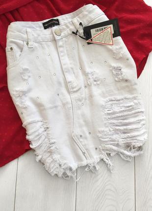 Белая юбка с разностями