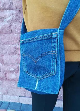 Джинсовая сумочка levis