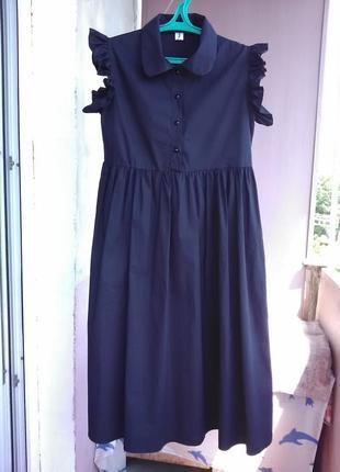 Шикарное платье с воланами