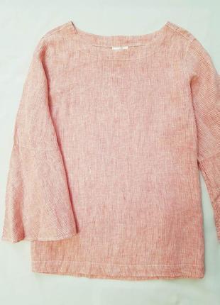 Cynthia rowley блуза блузка лен большой размер