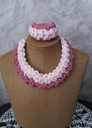 Колье-браслет/украшение на шею чокер ожерелье подвеска аксессуар украшение ручная работа/