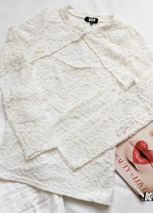 Нежная молочно-белая кружевная блузка от bik bok