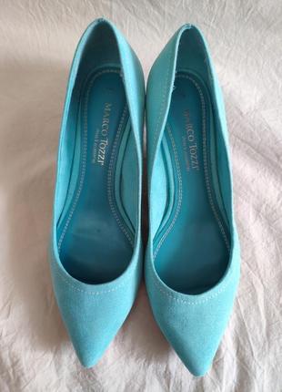 Туфли на низком каблучке marco tozzi