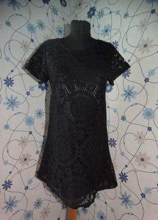 Мини летнее платье гипюровое на подкладке супер liva girl