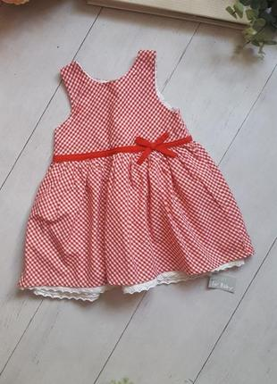 Платье в горох на 9-12месяцев