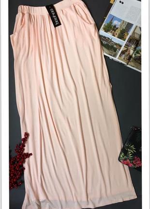 Летняя юбка в пол с разрезами по бокам