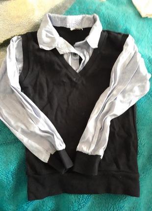 Рубашка обманка на мальчика