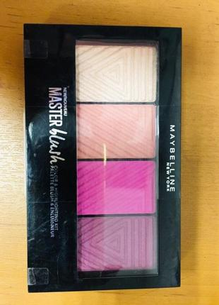 Палетка румян + хайлайтер  maybelline rouge palette master blush palette