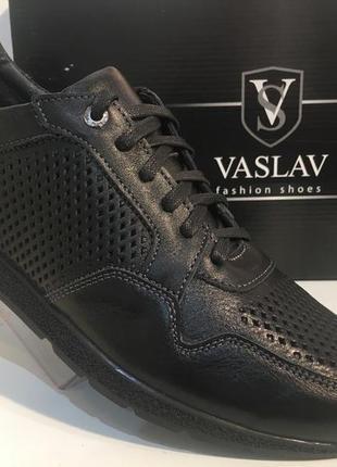 Мужские кожаные туфли , перфорация,,45 размер