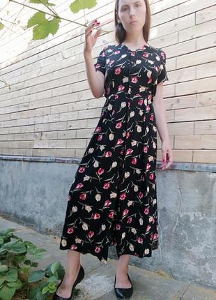 Платье халат миди в тюльпан bhs