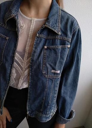 Джинсовка бойфренд винтажная куртка джинсовая пиджак котоновый vintage jeans
