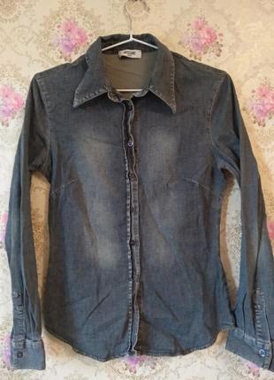 Джинсовая рубашка moschino