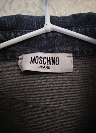 Джинсовая рубашка moschino2 фото