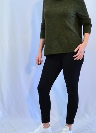 2849\60 темно-зеленый свитер с высоким горлом tu xl