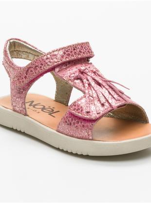 Новые сандалии noel, франция.  (босоножки с бахромой/кисточками) розово-золотые