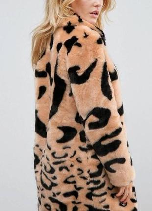 Шуба из искусственного меха с леопардовым принтом barneys originals