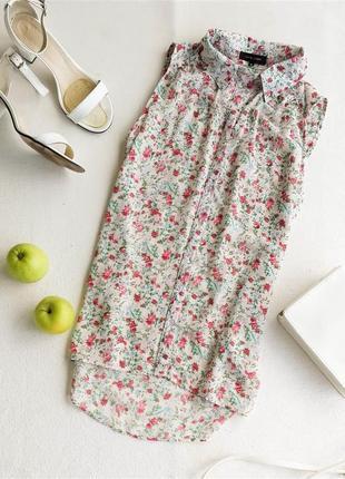Блуза шифоновая в цветочный принт new look