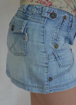 Джинсовая юбка мини, с-м