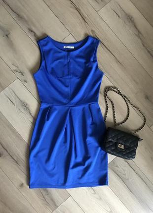 Платье насыщенно синего цвета индиго