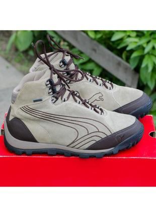 Кожаные непромокаемые трекинговые ботинки puma desierto iv gtx 40р. 26 см.