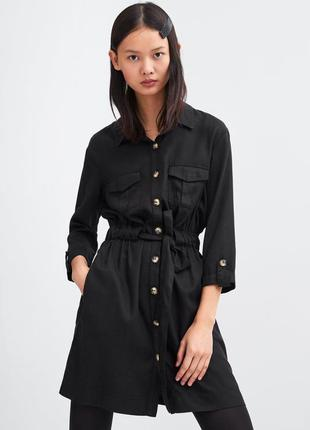 Стильное платье рубашка зара zara со скидкой!