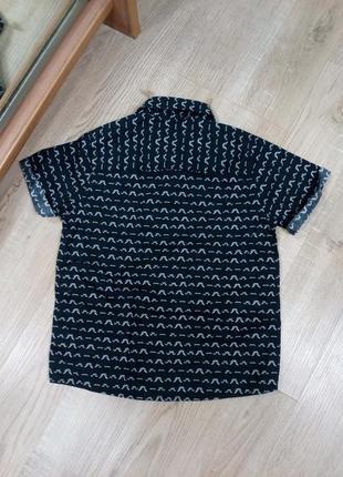 Стильная летняя рубашка на мальчика 4 года2 фото