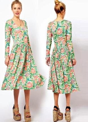 Платье asos  миди бохо в винтажном стиле